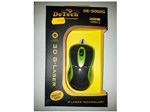Мышь DeTech DE-5066G Rubber Shiny Black/Green, USB