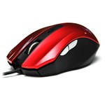 Мышь DeTech DE-5040G Rubber Shiny Red, USB