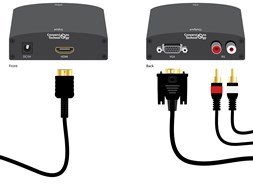 Конвертер HDMI to VGA + Audio активный